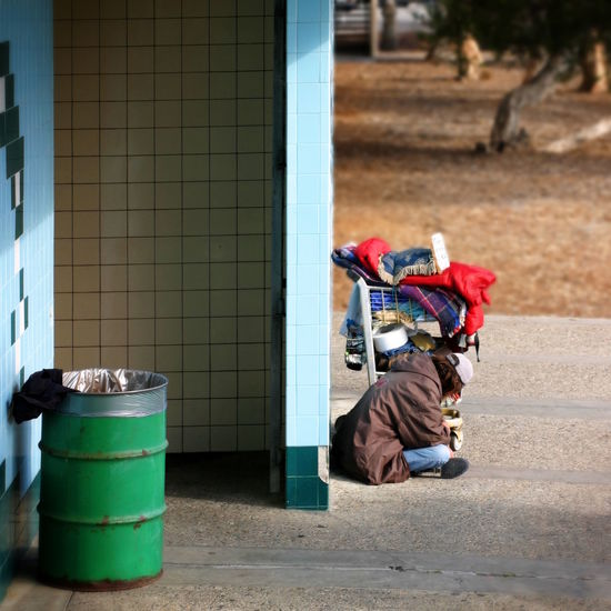 Homeless Life is hard in California! A homeless person sitting in Ventura, CA near the beach, waiting for … a better live? Abuse Alcohol Alcoholic  City Cold Down Drug Forgotten Helpless Homeless Hopeless Lonely Man Men Mentally One Person Person Poor  Poverty Sad Sleeping Unemployed Unhappy Ventura Wc