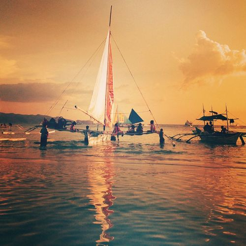 The Journey Is The Destination Sailing Ilovethesea Sunset Journey