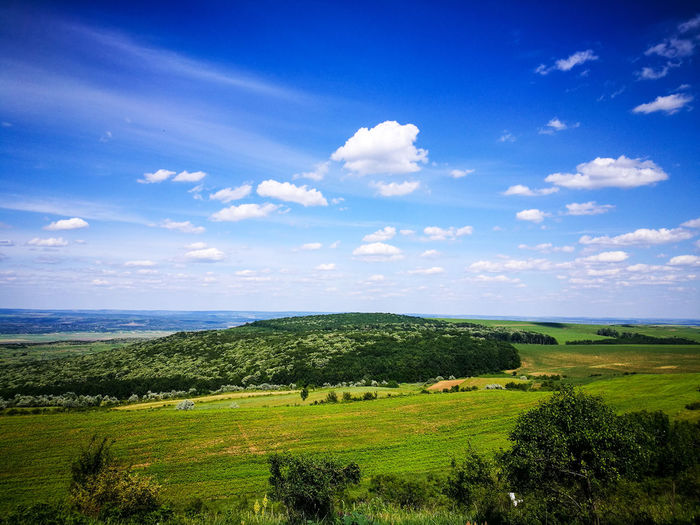 Green Color Beauty In Nature Field Cloud - Sky Sky Nature Landscape Outdoors Rural Scene Blue Grass Freshness Lightroom Wallpaper Amazing View Aroundtheworld Bestshot Iasi FirstEyeEmPic Ig_romania EyeEmNewHere Cloudporn Explore The World