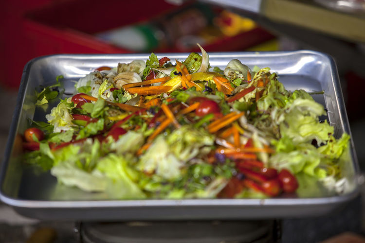 Chopped Vegetable On Tray