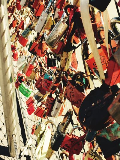 Colour Of Life Taking Photos Makartsteg Salzburg, Austria Lovelocks Lovelocksbridge Padlocks True Love Promises