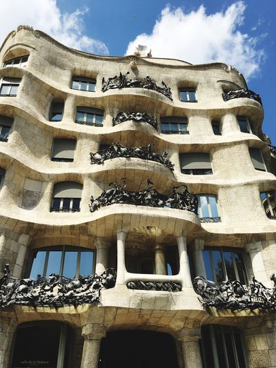 Frainf Barcelona España🇪🇸 Pedrera  Building Exterior No People Outdoors Low Angle View Architecture Window Built Structure Sky Day Your Ticket To Europe