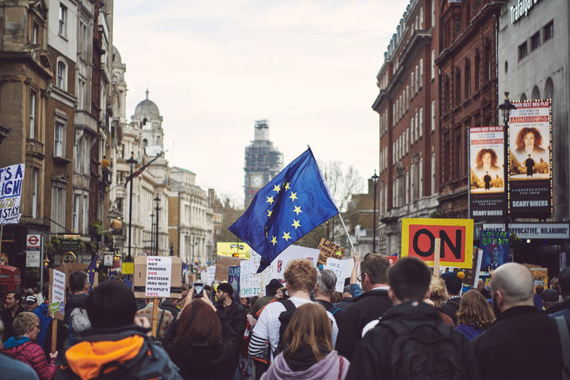 The Peoples Vote March in London - Over 1 million supporters in attendance. Brexit Brexit Protest People People Photography Street Photography Streetphotography Architecture Crowd City Large Group Of People Building Exterior Real People Built Structure Group Of People Flag Women Street Day Adult Communication Protest Sign Building Outdoors Protestor