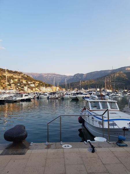 Serra d'Alfabia Water Nautical Vessel Clear Sky Sea Beach Moored Harbor Mountain Sand Sky Marina Pier