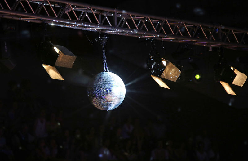 Large disco ball at the concert Stage Ceiling Club Club Night Cocnert Concert Disco Disco Ball Discoball Electrical Equipment Entertainment Club Hanging Illuminated Indoors  Light Lighting Equipment Metal Music Night Night Club Nightclub Nightlife No People Sphere Stage Light