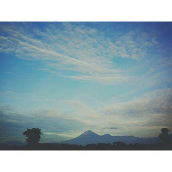 morning.. tomorow is my birthday :) Mount Semeru Hello World Sky