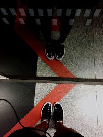 Train Bored Shoes Vans Reflection
