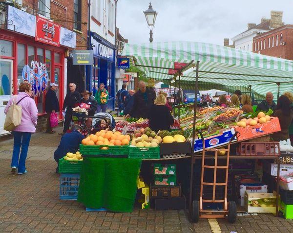 Leighton Buzzard Market Fruit Fruit Stall Fruit & Vegetable Food