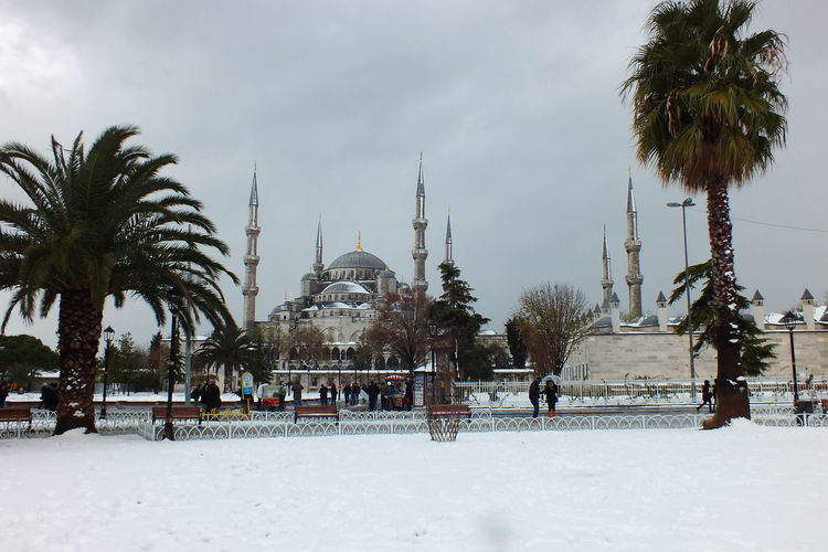 Blue Mosque in winter time with snow Blue Mosque In Wintertime Blue Mosque, Ancient, Arabic, Architectural, Architecture, Art, Asia, Asian, Attraction, Aya, Blue, Building, City, Culture, Day, Dome, Eastern, Exterior, Famous, Hagia, Heritage, Historic, History, Horizontal, Islam, Islamic, Istanbul, Landmark, Landscap Istanbul Turkey Snow Covered Travel Travel Destinations Winter Winter Time In Istanbul