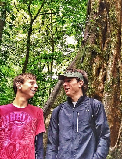 The Portraitist - 2016 EyeEm Awards Boys Talking Teens Chatting Rainforest Huge Tree Chummy