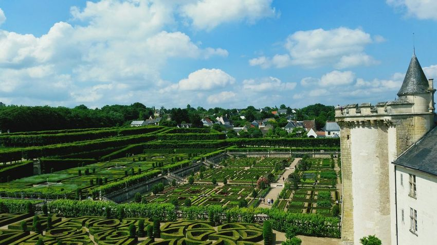 Cloud - Sky Architecture Agriculture Sky Day No People Outdoors Nature Villandry Gardens Villandry Chateau Villandry Chateau De Villandry Villandry Castle