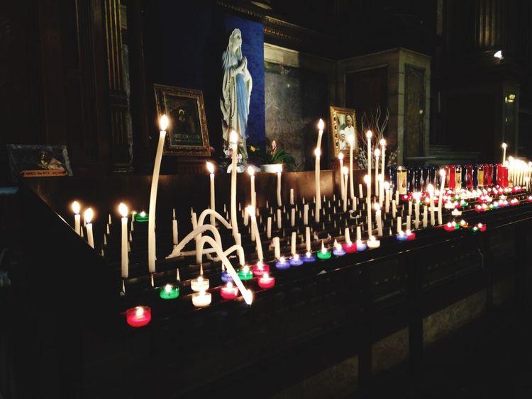 Praising The Lord Candles Worship Praying Light Holy Paris