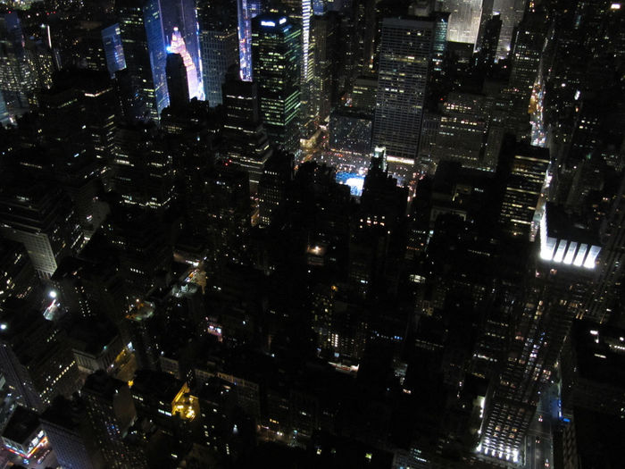 City NYC Night Lights Nightphotography Skyscrapers View From The Top Aerial View Illuminated Cityscape No People