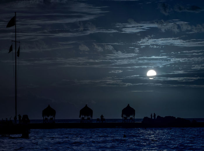 Pier At Night In Turkey