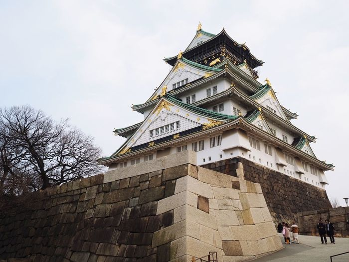 Osaka Castle EyeEmNewHere Osaka Castle M. Zuiko 17mm F1.8 Lens Architecture Built Structure Building Exterior Low Angle View History Sky Travel Destinations Castle Day EyeEmNewHere
