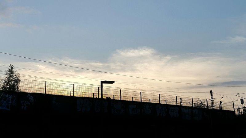 Sunset Industrial Bridge Direct Light Summer Vibes Summer Sunshine
