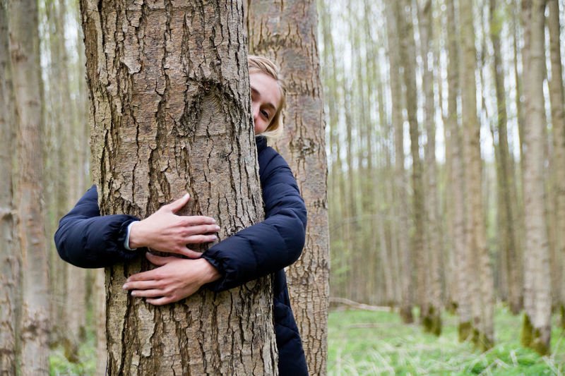 People Nature Real People Men Portrait Hugging A Tree Tree Happiness Outdoors Smiling Forest Hugging Friendship Tree Trunk Gripping Cheerful Togetherness WoodLand Holding Adults Only Embracing Two People Human Hand Human Body Part Let's Go. Together. Day Leisure Activity Women Adult Young Adult