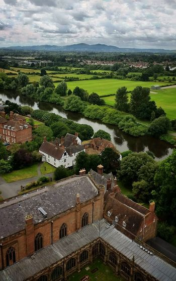 'View from the Worcester CathedralBell Tower' (Series: 4 of ?) [Series: the home & music of Edward Elgar] ▶🎼 https://youtu.be/zaitJFDTslU 🎧 👈 (Katherine Jones performs Nimrod from Enigma Variations: Elgar) Notice the 3 swans swimming upstream the River Severn? In the background are the Malvern Hills, a great source of Inspiration for Elgar ...There's one person in the shot! Where's Wally? I Love My Home Worcester England 🌹 Home Is Where The Art Is Enjoying Life Cathedral A Bird's Eye View Eye4photography  Exceptional Photographs Mobilephotography EyeEm Masterclass Leading Lines River Country Living Green Green Green!  Striving For Excellence