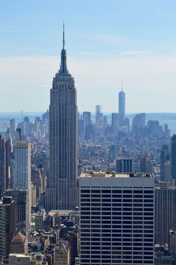 Empire State Building Against Sky At Manhattan