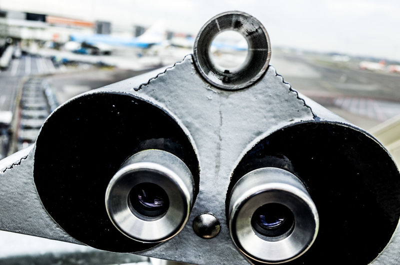 Close-Up Of Binoculars Outdoors