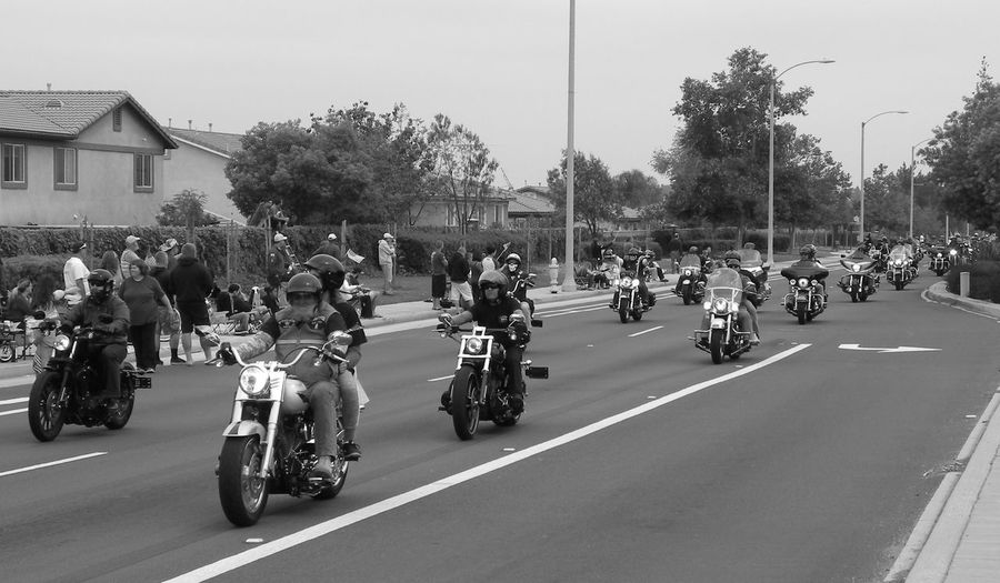 Taking Photos Enjoying Life Hanging Out Bikers Veterans Memorial Day West Coast Thunder Blackandwhite Feel The Journey America Support Our Troops American Flag Motorcycle Motorcyclepeople Harley Davidson Bike Run California People Memorialday On The Way People Together
