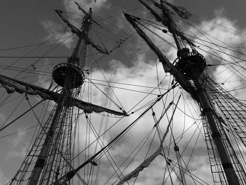 Cloud - Sky Outdoors Ship Ships⚓️⛵️🚢 Beautifully Organized Bateau à Voile Bateau ❤️ Mat Cordages  Haubans Bateaux Au Port