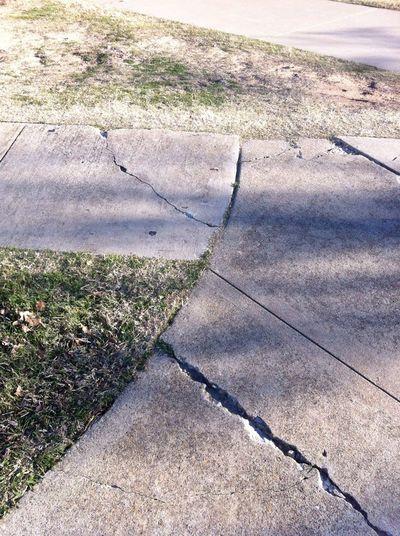 Sidewalk at TWU - SU (Student Union/Center) Sidewalk