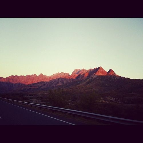 Red Mountains leading into Oudtshoorn, Western Cape, ZA. Redmountains Oudtshoorn Za SA mountains horizon