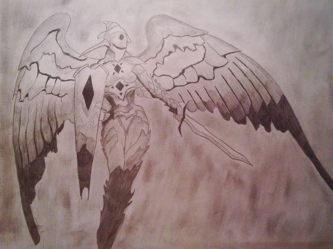 Angel Statue XXxTOMASzZz White Black Drawing Pencil Creativity Painting