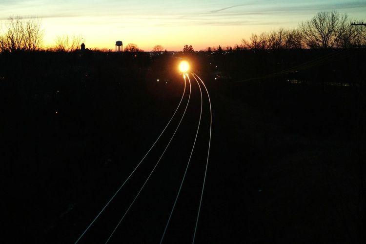 Incoming Train Tracks Horizon Over Land Track Trainphotography Traintracks Railroad Track Railway Bridge Perspective
