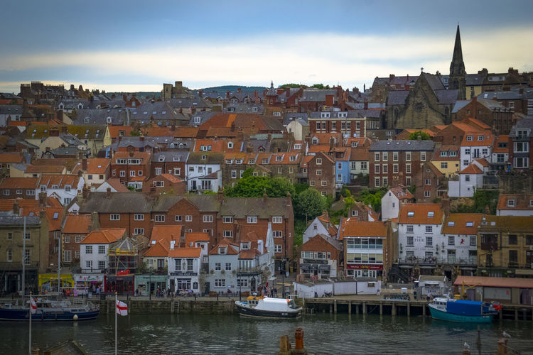 Whitby Yorkshire Building Exterior Architecture Built Structure Nautical Vessel Mode Of Transportation Water City Transportation Building Residential District Harbor Moored Town Sky Travel Destinations Nature Waterfront Day No People Cityscape Community Outdoors Canal TOWNSCAPE Sailboat
