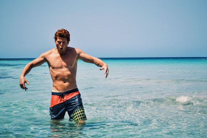 Ayyy gurlz Ginger Fella Crazy Guy Erasmus Photo Diary Sea Beach Bluelagoon
