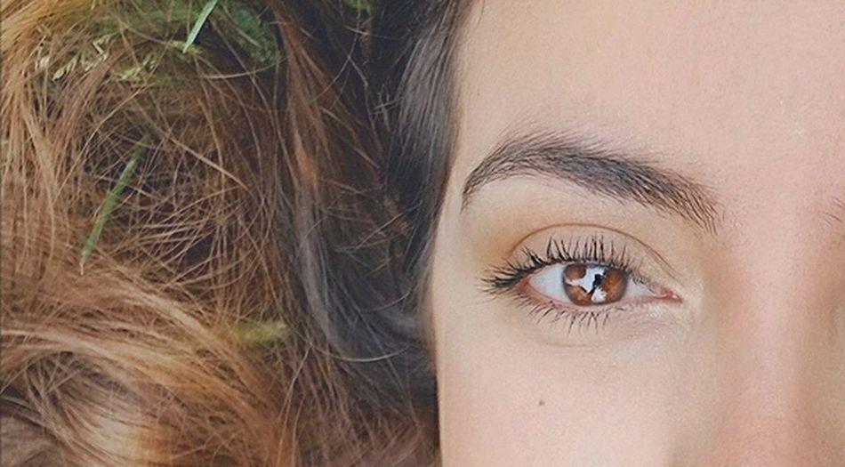 Beauty People Human Eye Eyelash Women Close-up Eyebrow Eyelashes Brown Green Grass EyeEm Nature Lover EyeEm Best Shots