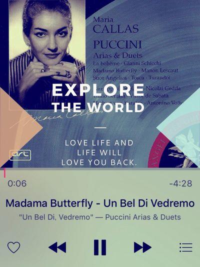 """おまけ Maria Callas Madama Butterfly """"Un bel di vedremo"""" Giacomo Puccini 和華蘭(Nagasaki Culture)"""