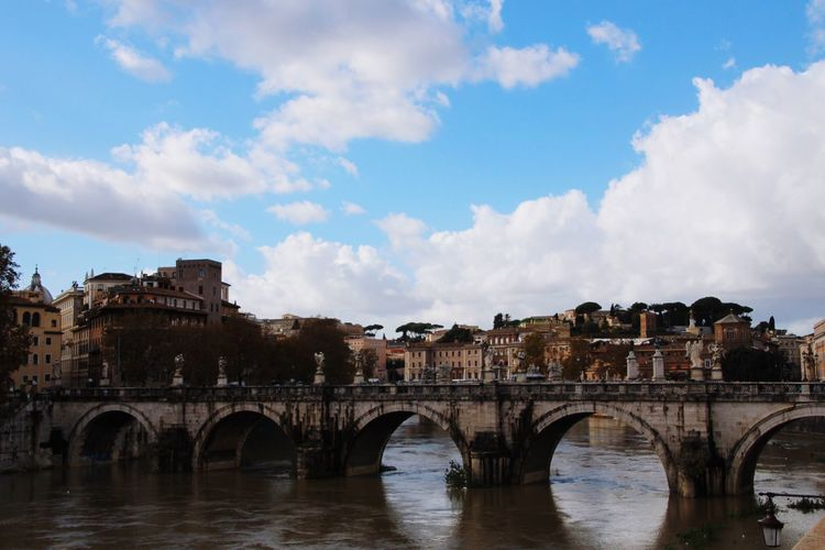 Rome Italy🇮🇹 Rom Architecture Built Structure Sky Arch Cloud - Sky Building Exterior Water Bridge - Man Made Structure Outdoors Day City