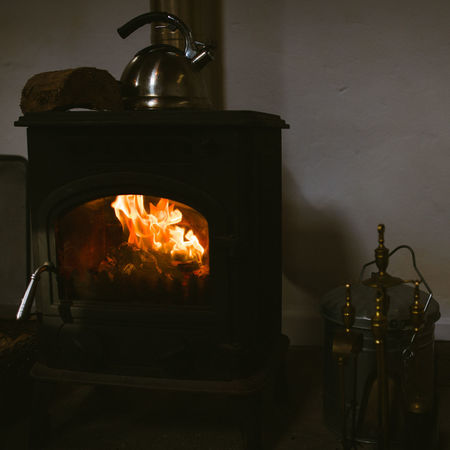 Burning Cold Days Day Fire Fireplace Firewood Flame Heat - Temperature Indoors  Kettle No People Old-fashioned Stove