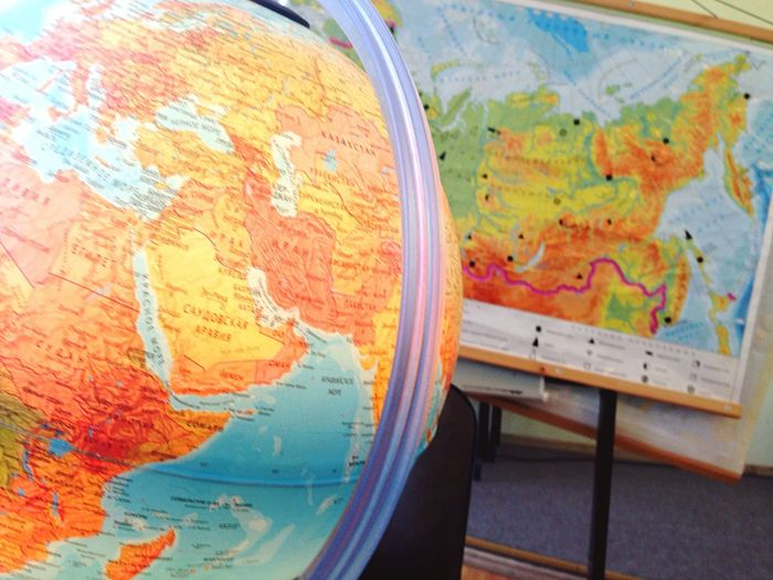 Map Close-up Indoors  No People Multi Colored Day Travel Continents
