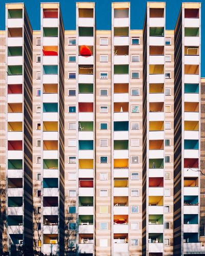 Rainbow balcony Berlin Plattenbauromantik Large Group Of Objects In A Row No People Indoors  Order Side By Side Choice The Architect - 2018 EyeEm Awards The Architect - 2018 EyeEm Awards