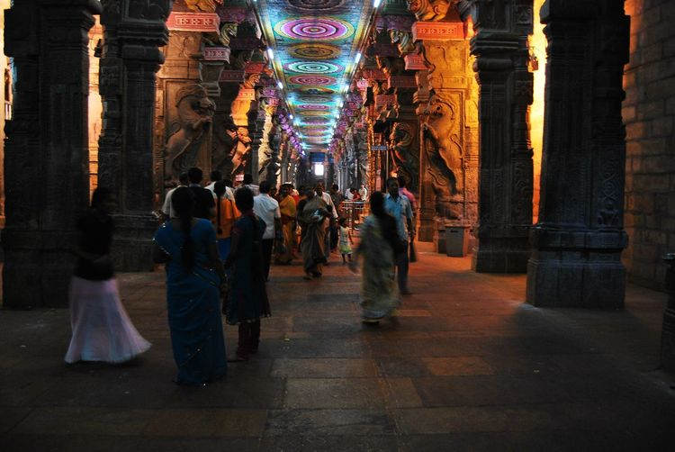 Architecture Built Structure Incredible India India Large Group Of People Madurai Meenakshi Amman Temple Must See Religious Architecture South Indian Temple Architecture Temple Corr Tourism