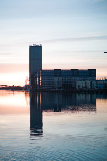Architecture Building Exterior Built Structure City Day Modern Nature No People Outdoors Reflection Sea Sky Sunset Water Waterfront