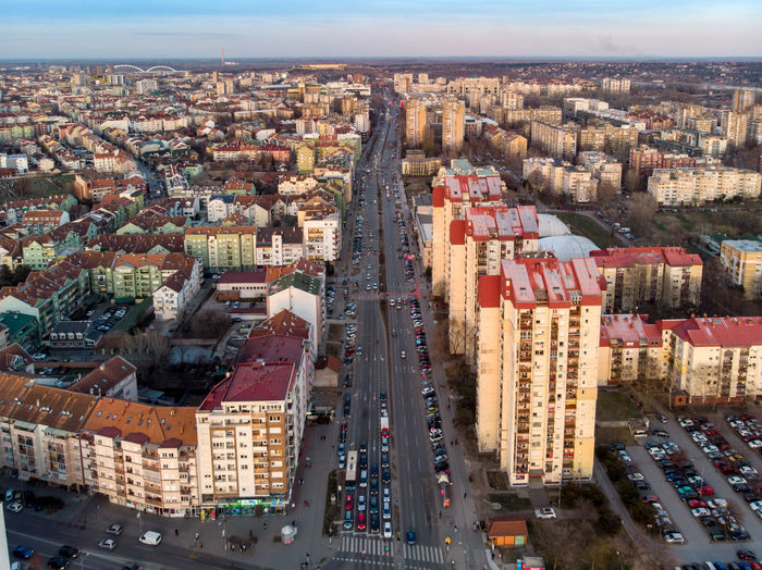 Building Exterior Architecture City Built Structure Cityscape Building High Angle View Residential District Aerial View Transportation Crowded Day Crowd Street Mode Of Transportation Nature Car Sky Land Vehicle Outdoors Office Building Exterior Skyscraper Modern Novisad