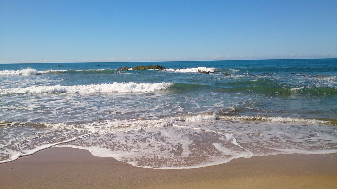Pacific Ocean Beach Sand Waves Horizon Enjoying The View Sun Ocean Just Blue Moments