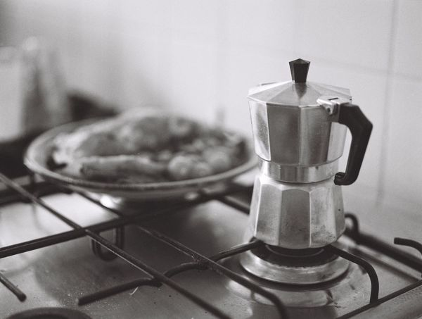 Food Domestic Kitchen Close-up Breakfast Coffee ☕️ Coffeepot Blackandwhite Mediumformat Analogue Photography Film Photography Mamiya Noperson