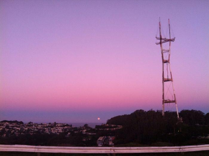 Moonset Sutro Sunset