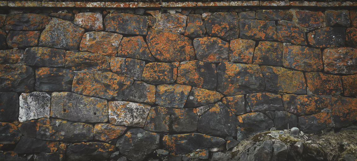 Brick Mold No People Orange Rock Wall Texture Rural Scene Seaside Speckled Stain Texture