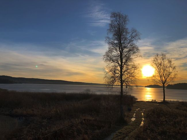 Sunny day at the North, 10:45am Frozen Lake Sunset Water Beauty In Nature Nature Tranquility Scenics Tranquil Scene first eyeem photo