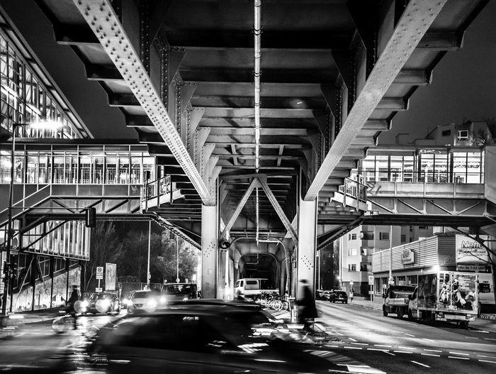 View of elevated road on bridge