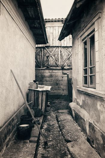 Building Exterior Outdoors Village Romania Countryside Old House Exteriorphotography Blackandwhite Photography