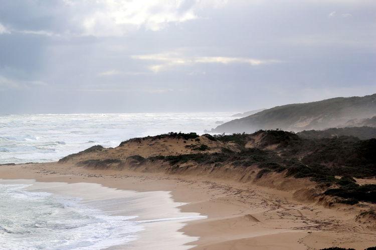Southend South Australia Seaspray Waves Crashing Rocky Coastline Sand & Sea Sand Dunes