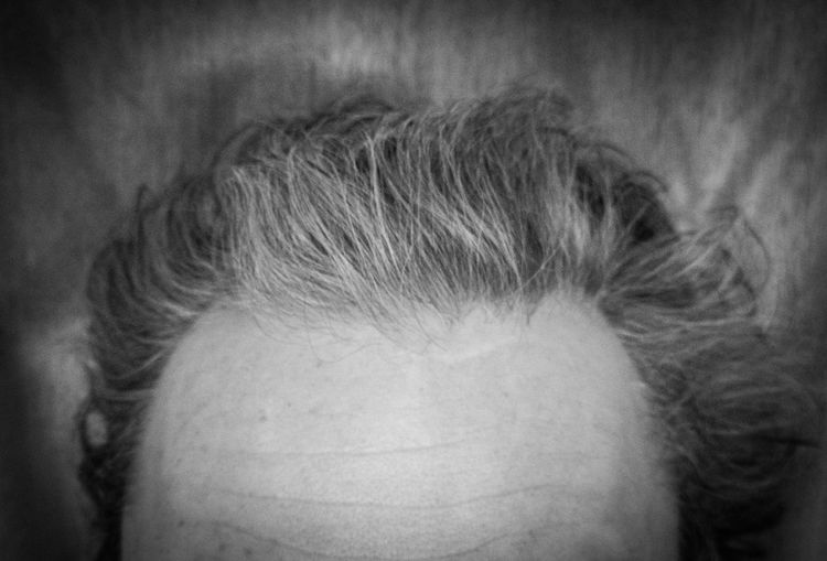 Headhunter Brain Thoughts HEAD Top Floor Crop  Portrait Unusual Composition Hair Man Ruffled Age Greying Unkempt Forehead Worries  Black And White Bedhair Hairstyle Greyscale Human Face Messy